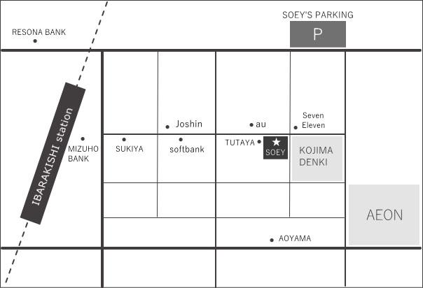 SOEY専用駐車場