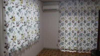 インハウスの刺繍カーテンでエレガントにコーディネート     大阪府堺市
