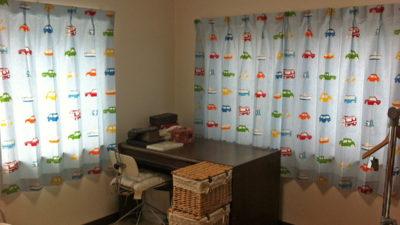 HARLEQUINのGOGO RETROで男の子の子供部屋のカーテン   大阪府豊中市 北摂
