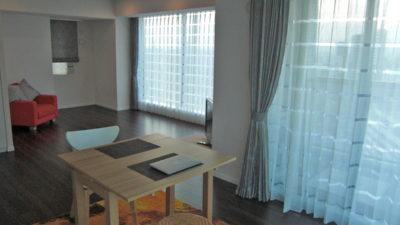 タワーマンションのリビングをシンプルモダンなカーテンで飾ろう 大阪市福島区