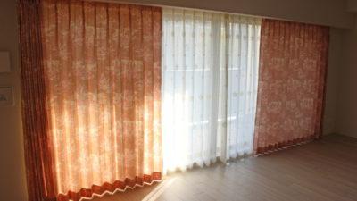 西宮市の新築マンションのオーダーカーテンはトワルドジュイでクラシックスタイル