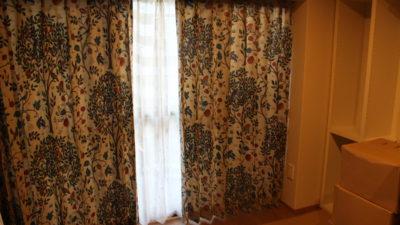 和モダンにウィリアムモリスのカーテンを飾りました 大阪府茨木市