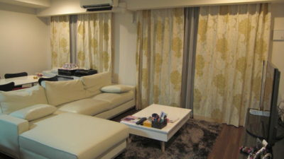 クリスチャンフィッシュバッハ フィスバのエレガントなカーテンでマンションコーディネート 大阪市北区