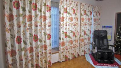 精華町のお家のオーダーカーテンはHARLEQUINの輸入カーテンで!