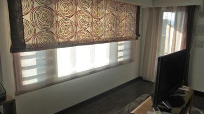 奈良県奈良市の新築マンションのオーダーカーテンはCAMENGOでローマンシェード