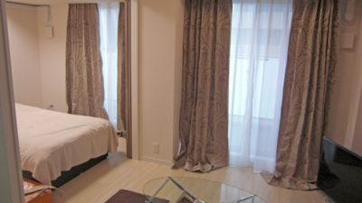 大阪市北区のマンションのカーテンはフジエテキスタイルの輸入カーテン