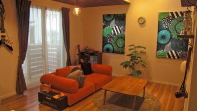 北欧カーテンマリメッコを堺市のお家でカーテンコーディネート