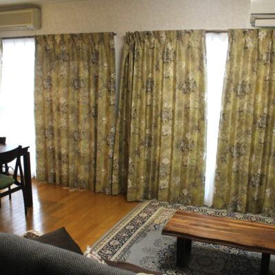 INHOUSE インハウスの新作輸入カーテンを使ったエレガンスなカーテンコーディネート