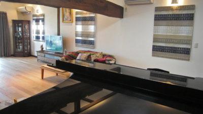 向日市のお家に輸入カーテンを使って和風モダンな雰囲気に仕上げました。京都