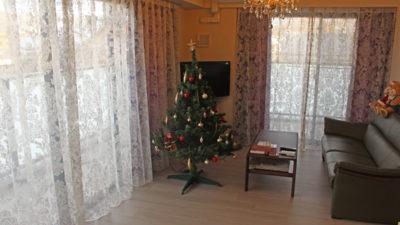 京都市伏見区のマンションにサンゲツの輸入レースカーテンでオシャレにご提案。