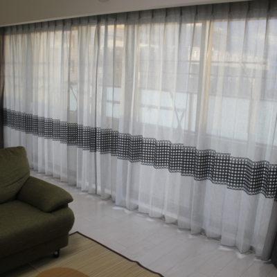 吹田市のマンションにはFEDEの新作レースカーテンを軸にナチュラルモダンなインテリアに!