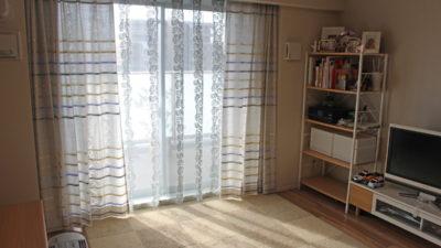 豊中市・小路のマンションのカーテンはSTORYの新作カーテンでナチュラルに!