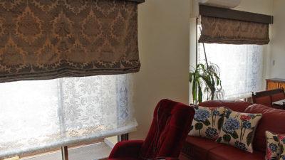 神戸市灘区のお家のオーダーカーテンにはFISBAやJABのエレガンスな輸入カーテンでご提案!