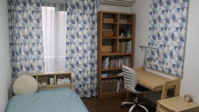高槻市のお家の子供部屋のオーダーカーテンはイギリス製のプリントカーテン!