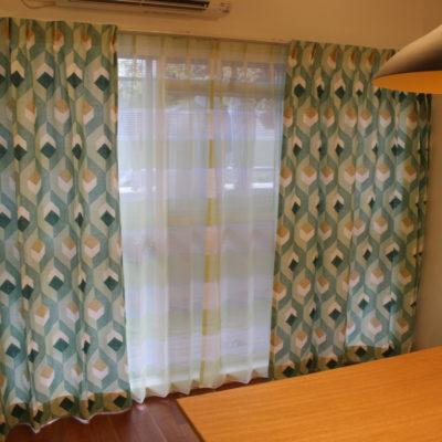大阪市内のマンションのオーダーカーテンはcamengoの生地で爽やかに!