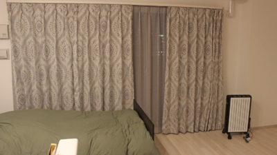 西中島南方の新築マンションのカーテンはイタリア製のリゾート感覚なカーテンで!大阪市内