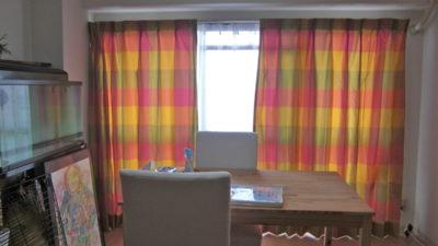 フジエテキスタイルのTAFFETAコレクションで茨木市のマンションのお部屋をカーテンコーディネート