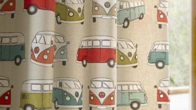 子供部屋にお勧めなフォルクスワーゲン柄の車のカーテン発売