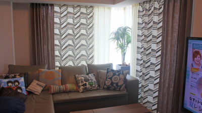 clarke&clarke southbeachコレクションで高槻のタワーマンションのカーテンをご提案しました