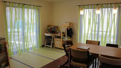 加古川市のお家にbaumannのflexのレースカーテンで彩りscionのカーテンは子供部屋に