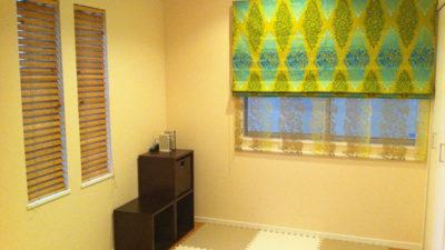 デザイナーズギルドのカーテンとCLARKE&CLARKEのレースカーテンでオリエンタルリゾートに 大阪府堺市