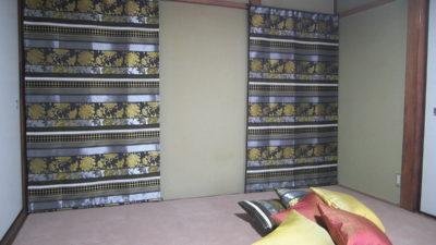 IN HOUSE (五洋インテックス)のカーテンとMANAS-TEXの生地でクッション 大阪府茨木市