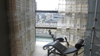 高層マンション エレガンスモダンなカーテンでコーディネート CASADECO 大阪市福島区
