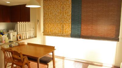 エレガンスなデザインをモダンに昇華したローマンシェード 大阪府茨木市
