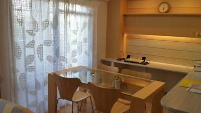 吹田市の千里山のマンションに北欧ブランドKINNASANDのカーテンでシンプルモダン