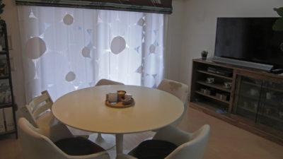 神戸市兵庫区の北欧ミッドセンチュリーなお部屋に輸入カーテンでオシャレにみせよう