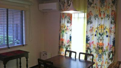 Christian Lacroix の輸入カーテンでエレガンスモダンなお部屋に。大阪府茨木市