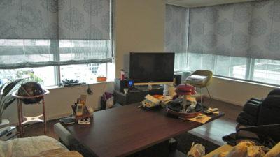大阪市中央区タワーマンションにkobeのWHITEコレクションのカーテンでオシャレにみせましょう