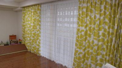 フェデの輸入カーテンでマンションのカーテンコーディネート   大阪市天王寺区