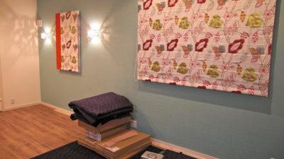 東大阪市のお家にクラーク&クラークのボタニカル刺繍でダブルシェード