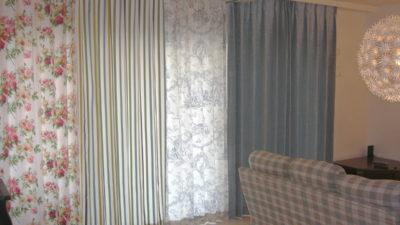 奈良のこだわりあるお家のオーダーカーテンは輸入カーテンのオンパレード