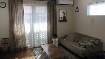 吹田のナチュラルなお家に麻・リネンのカーテンを納めました。