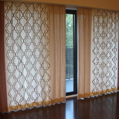 オーダーカーテン 豊中市のマンションにイギリス製カーテンでコーディネート