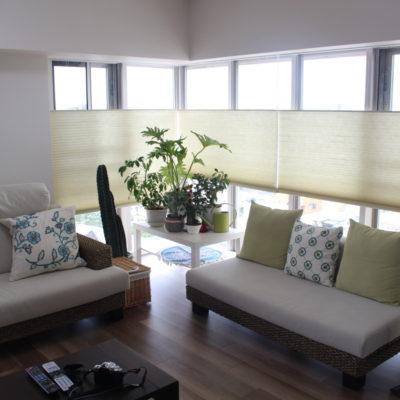 新築マンションにシェルシェードのトップオープンで開放的なお部屋に!