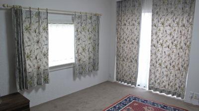 大阪府高槻市のお家のカーテンをエンブロイダリー刺繡の輸入カーテンで仕上げました!