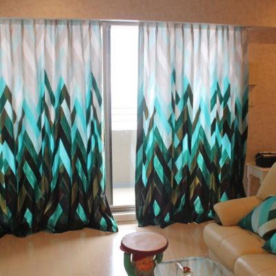 寝屋川市香里園のタワーマンションのオーダーカーテンはモダンな輸入カーテン