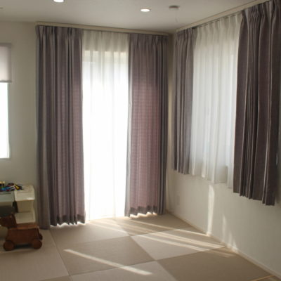 長岡京市の新築のカーテンはマナトレーディングのSATELLITE 京都