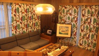 大阪府吹田市のリフォームされたお家のカーテンには北欧リゾート系カーテンで!