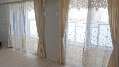 神戸市須磨区の新築マンションのオーダーカーテンはneed'kのオシャレなレースカーテンで!