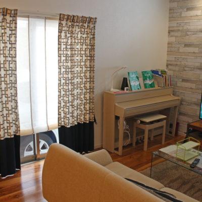 摂津市のご新築・リビングや子供部屋のオーダーカーテン施工実例です。