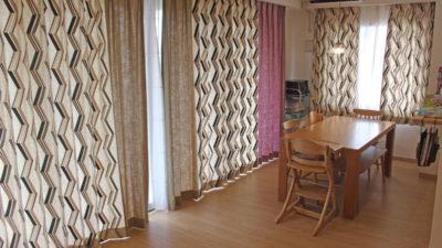 輸入カーテンで大阪のマンションをカーテンコーディネートしました!