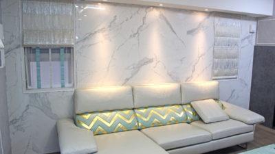 大阪市天王寺区マンションのオーダーカーテンはNEED'Kのモダンな生地でローマンシェード