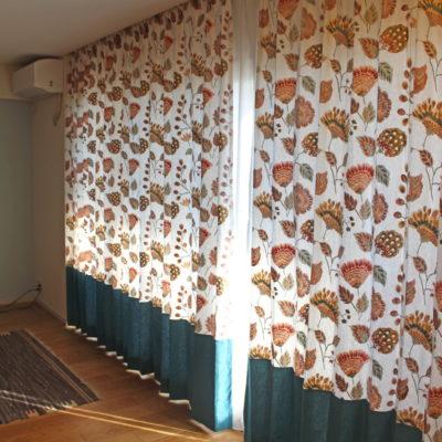 大阪府吹田市のマンションにはCAMENGO社の新作輸入カーテンでナチュラルに華やかに!
