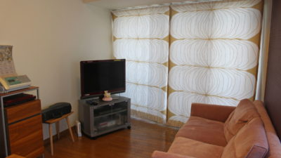 京都市伏見区のマンションに北欧生地で和モダンにカーテンコーディネート!NORDISKA TYGER