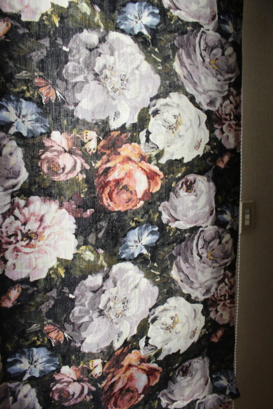clarke 花柄 カーテン